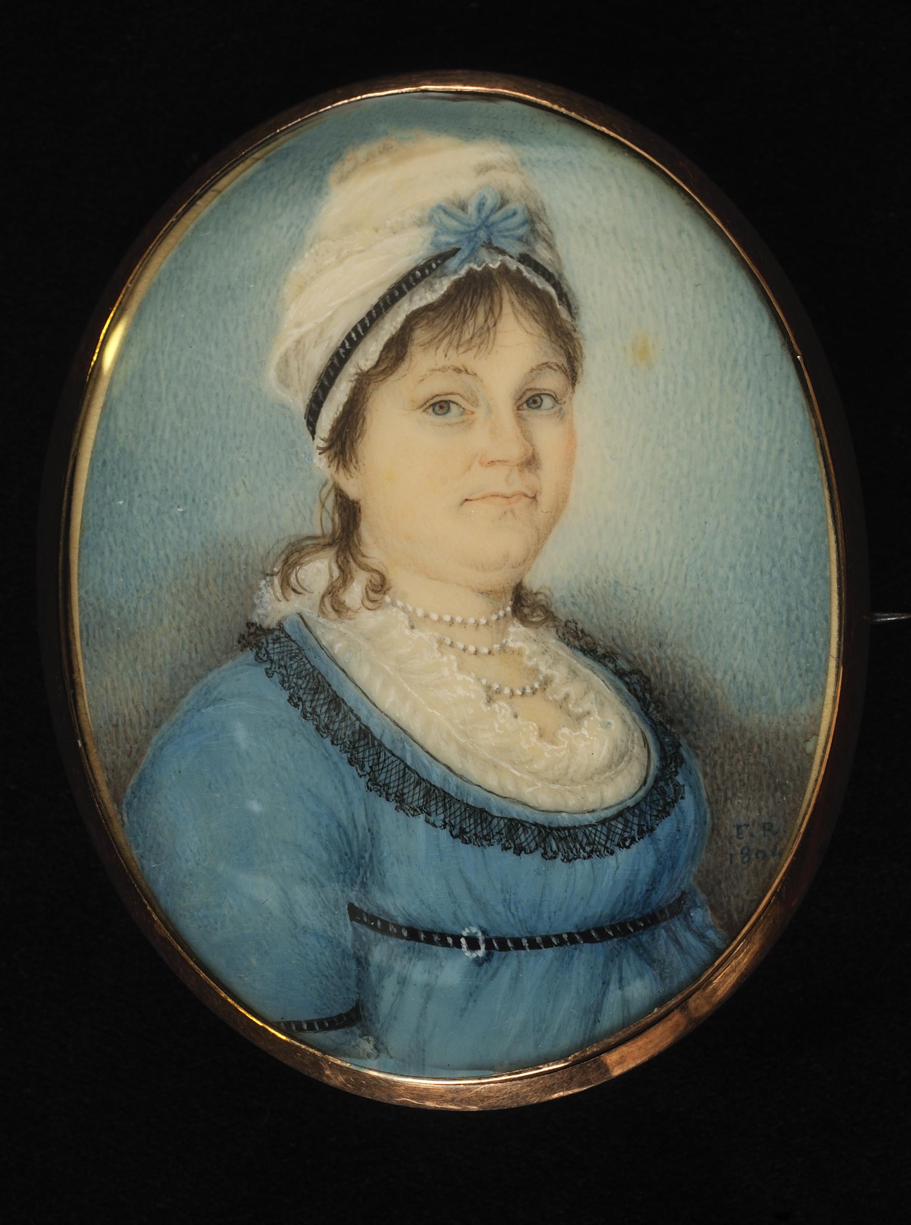 Nancy McCampbell Hays portrait miniature by Francis Rabineau, 1804