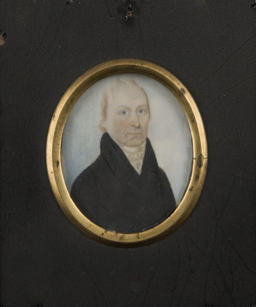 Nathaniel Coit Allen portrait miniature attributed to John Brewster, Jr., ca. 1810