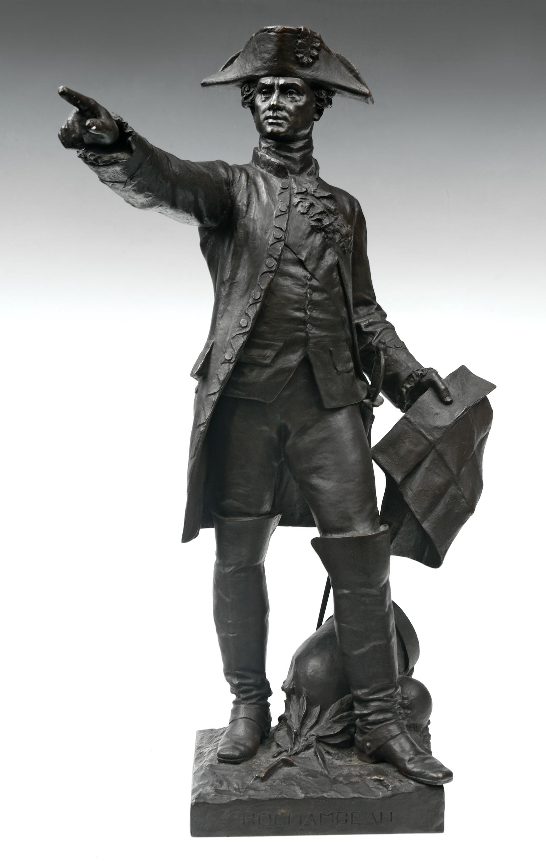 Rochambeau at Yorktown statuette by Hamar, ca. 1885-1933