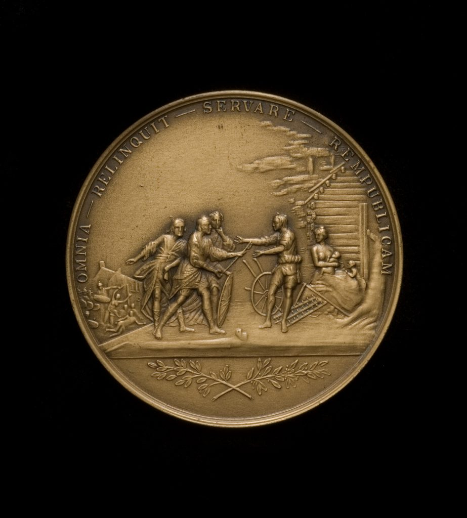 Society of the Cincinnati medal designed by L'Enfant, 1914