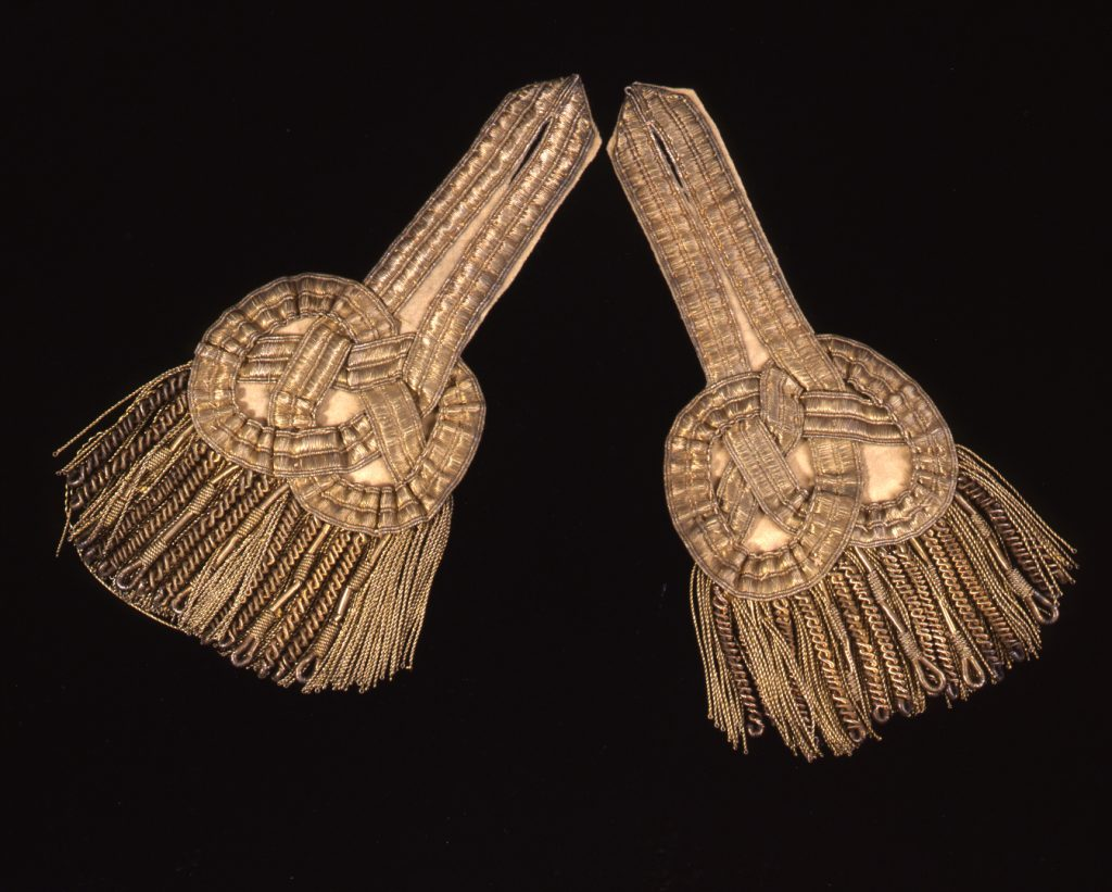 Pair of epaulets owned by Tench Tilghman, ca. 1776-1780