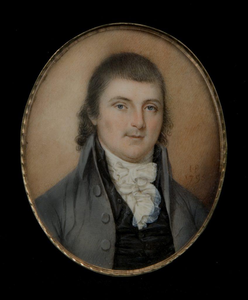 Thomas Posey portrait miniature by James Peale, 1795