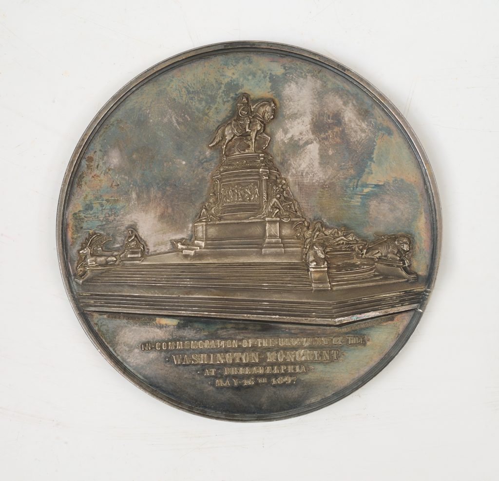 Washington Monument in Philadelphia medal, 1897