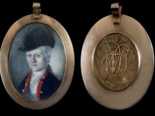William Truman Stoddert portrait miniature by Charles Willson Peale, ca. 1778