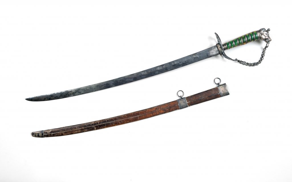 Adams Bailey cuttoe and scabbard made by John Bailey, ca. 1778