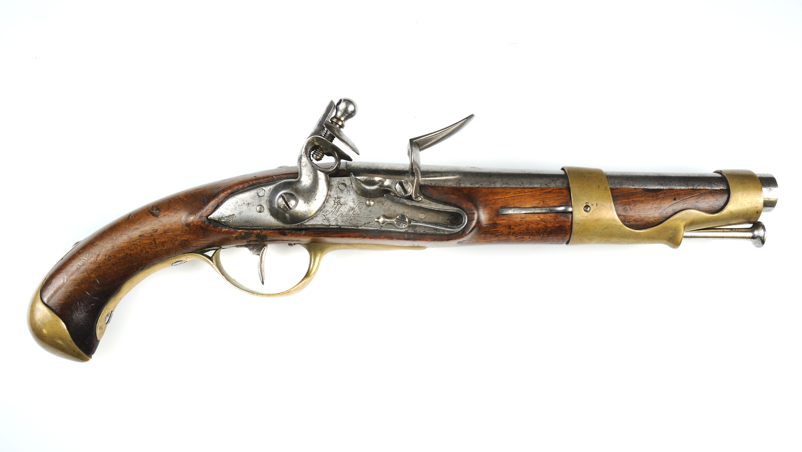 French Model 1766 cavalry pistol made at St. Etienne, 1775