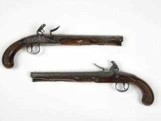 Richard Clough Anderson horseman's pistols made by John Twigg, ca. 1775