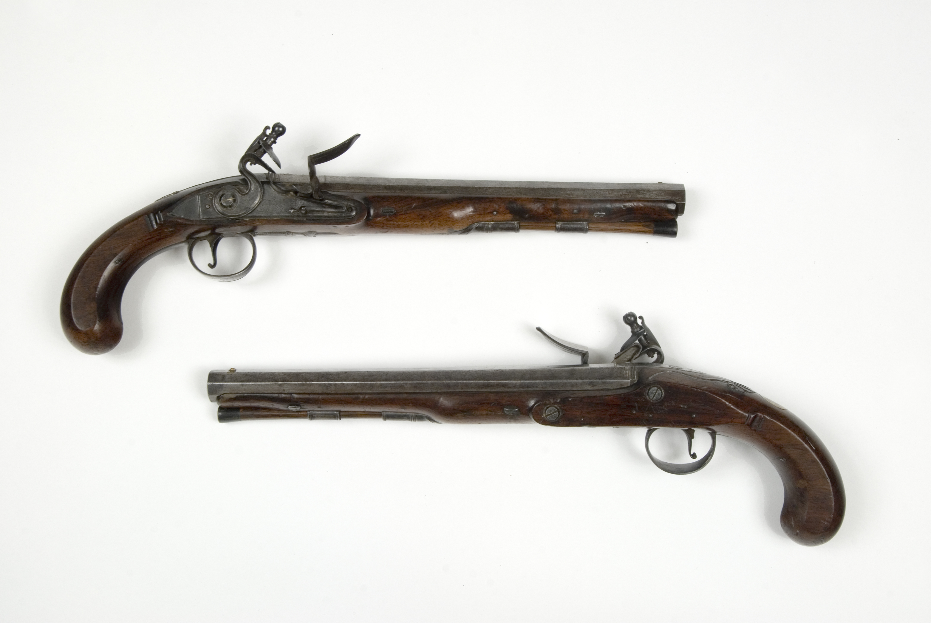Richard Clough Anderson horseman's pistols made by John Twigg, ca. 1775