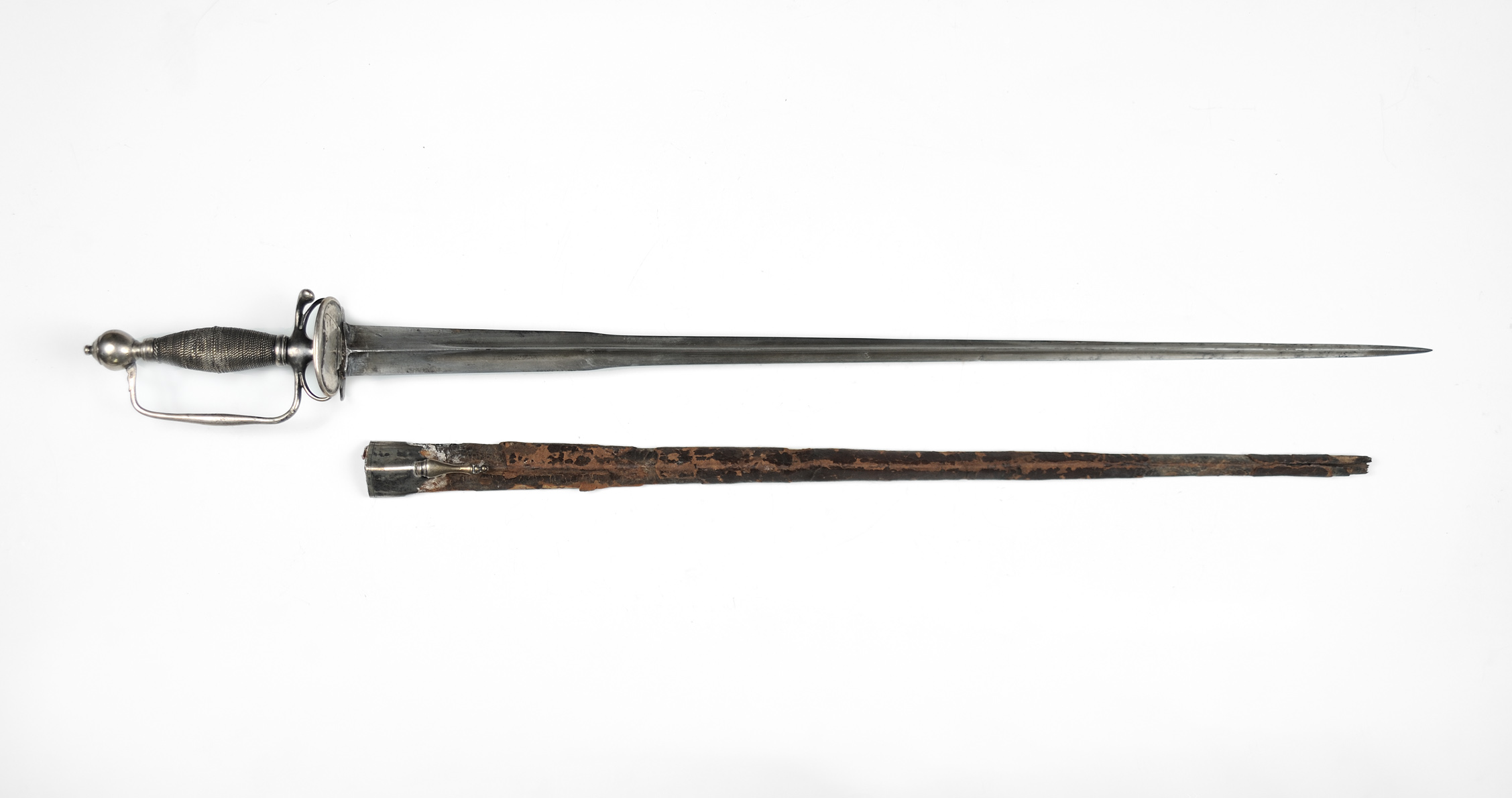 Richard Varick small sword and scabbard made by William Cowell, Jr., ca. 1760