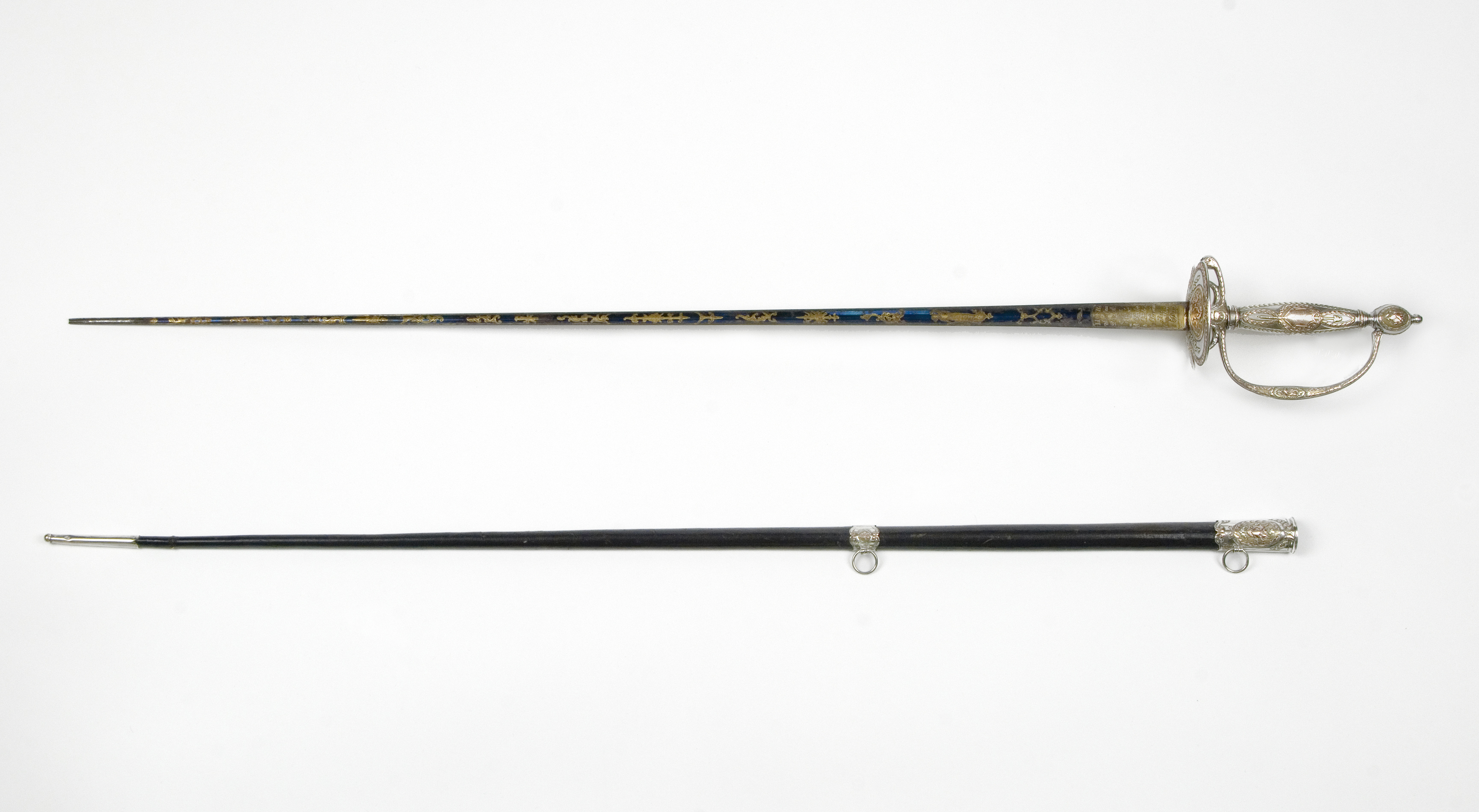 Tench Tilghman presentation sword and scabbard made by C. Liger, 1785