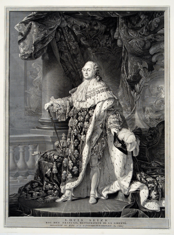 <em>Louis Seize, Roi des Français, Restaurateur de la Liberté</em> engraved by Jean-Guillaume Bervic, ca. 1880s
