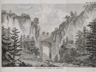 Natural Bridge engraving from Chastellux, 1786