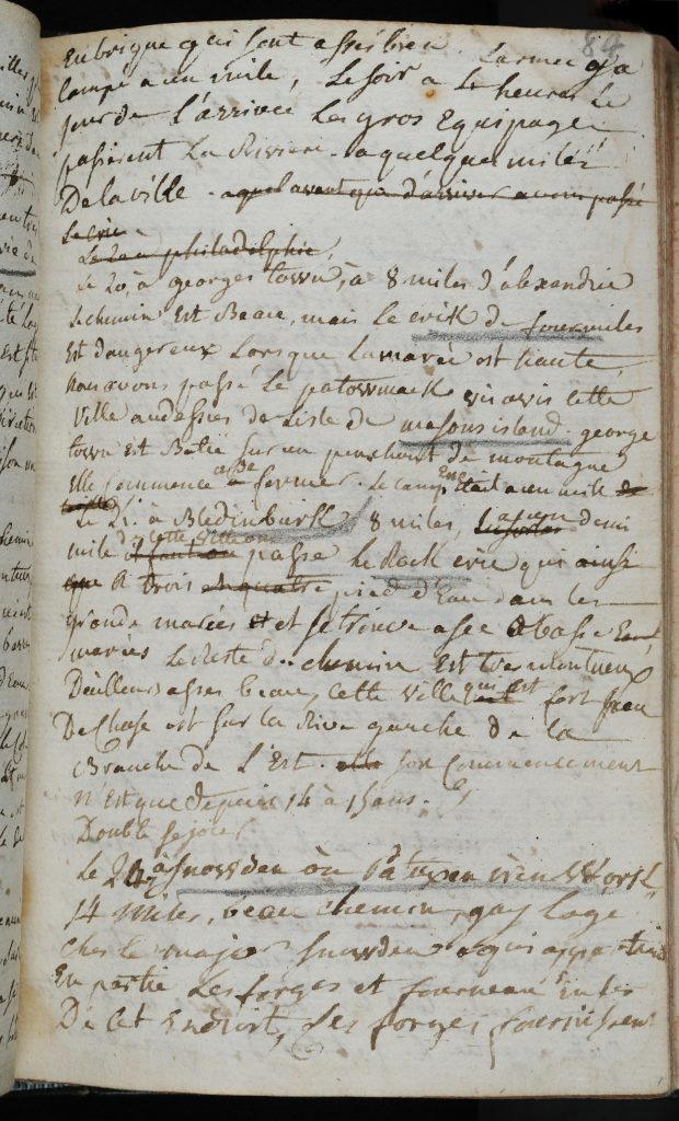 """""""Journal tenu par Henri Dque. de Palys, Chevalier d'Montrepos pendant son voyage en mer, pour aller en Amerique, 1780-1783"""""""