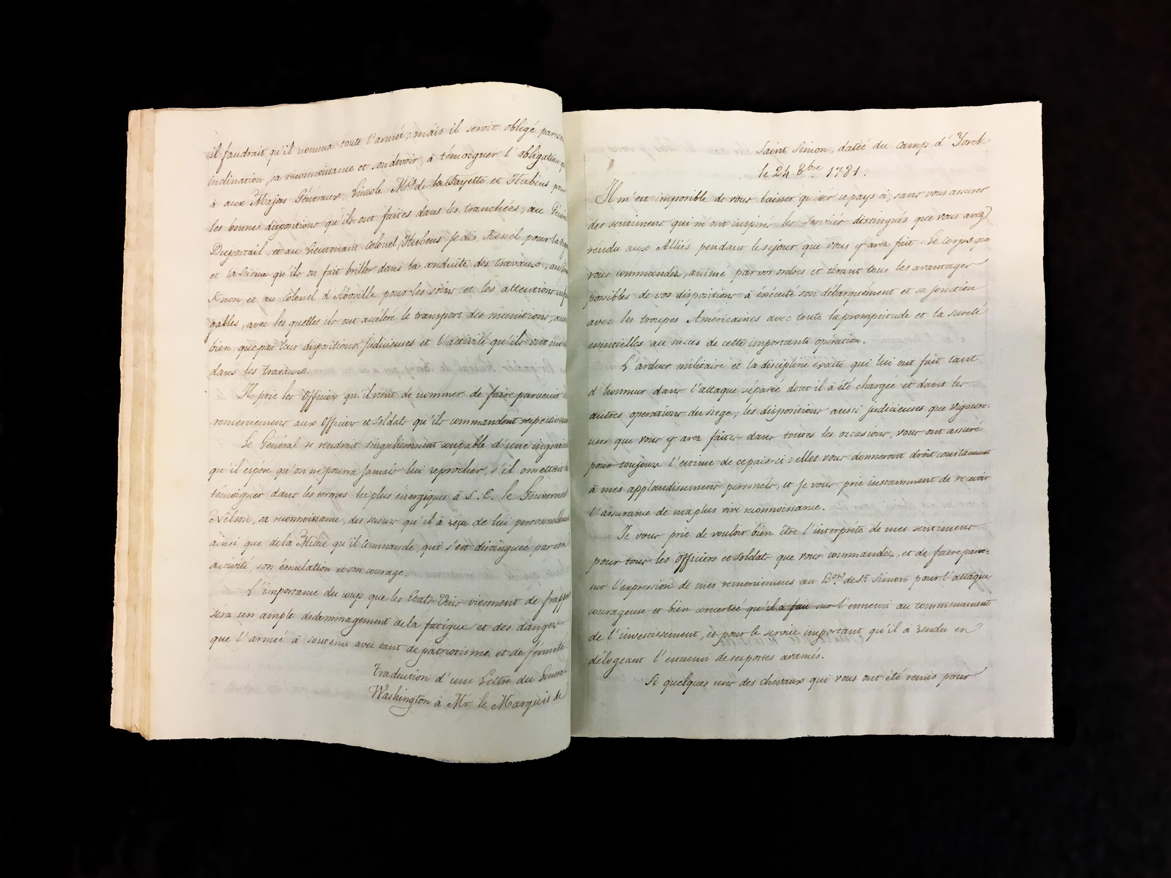 """""""Journal de la campagne des etats unis d'Amérique dépuis le 5 Juillet 1781 jusqu'au 12 Avril 1782"""" by Saint-Simon"""