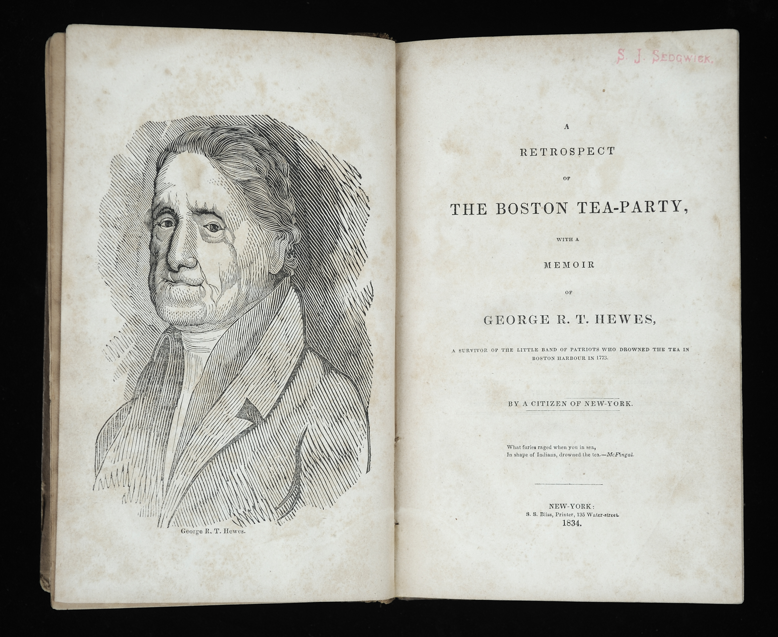 A Retrospect of the Boston Tea-Party, with a Memoir of George R.T. Hewes, 1834