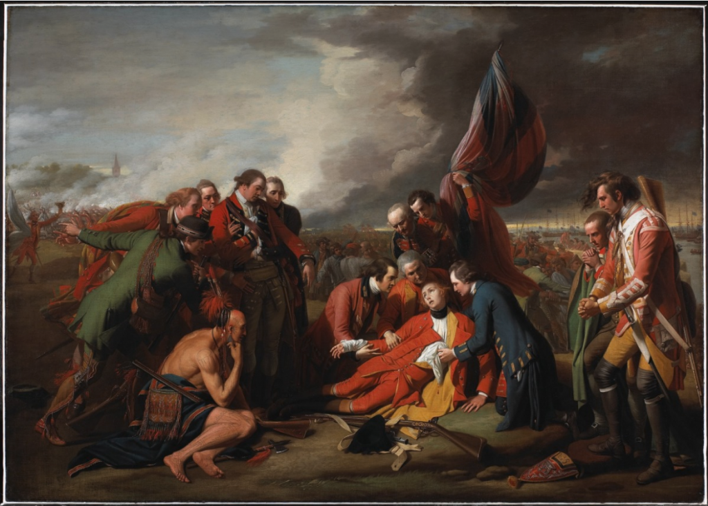 5 The Death of General Wolfe by Benjamin West