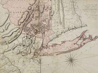 """Detail of """"A Map of the Province of New York, with Part of Pensilvania, and New England"""" from our library collection."""