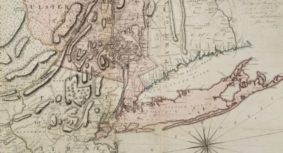"Detail of ""A Map of the Province of New York, with Part of Pensilvania, and New England"" from our library collection."