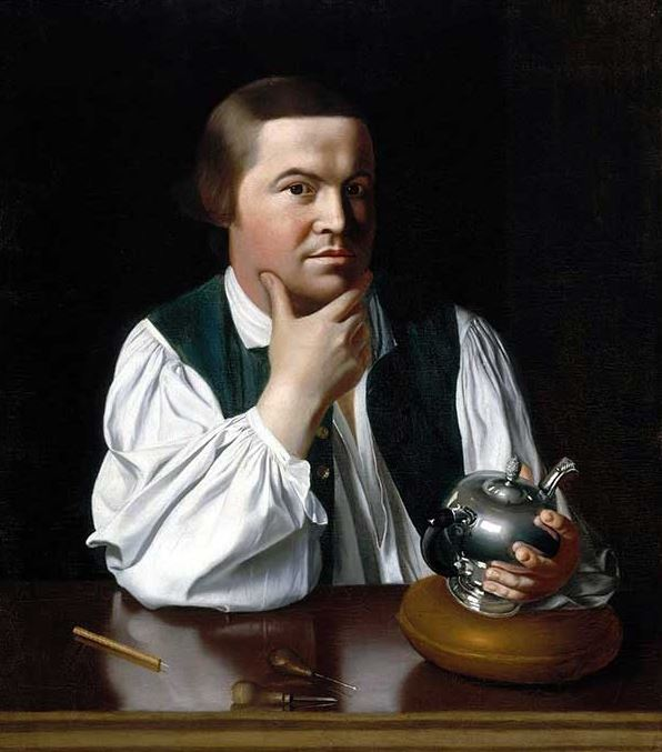 Paul Revere, portrayed here by John Singleton Copley, engraved the best known print of the Boston Massacre.