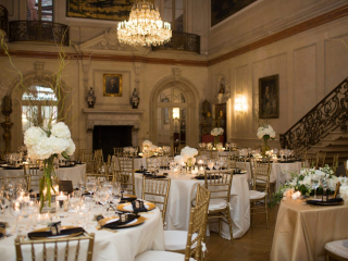 <h2>A golden hued Ballroom</h2>Photo by Camille Catherine. SRS Events, planner.