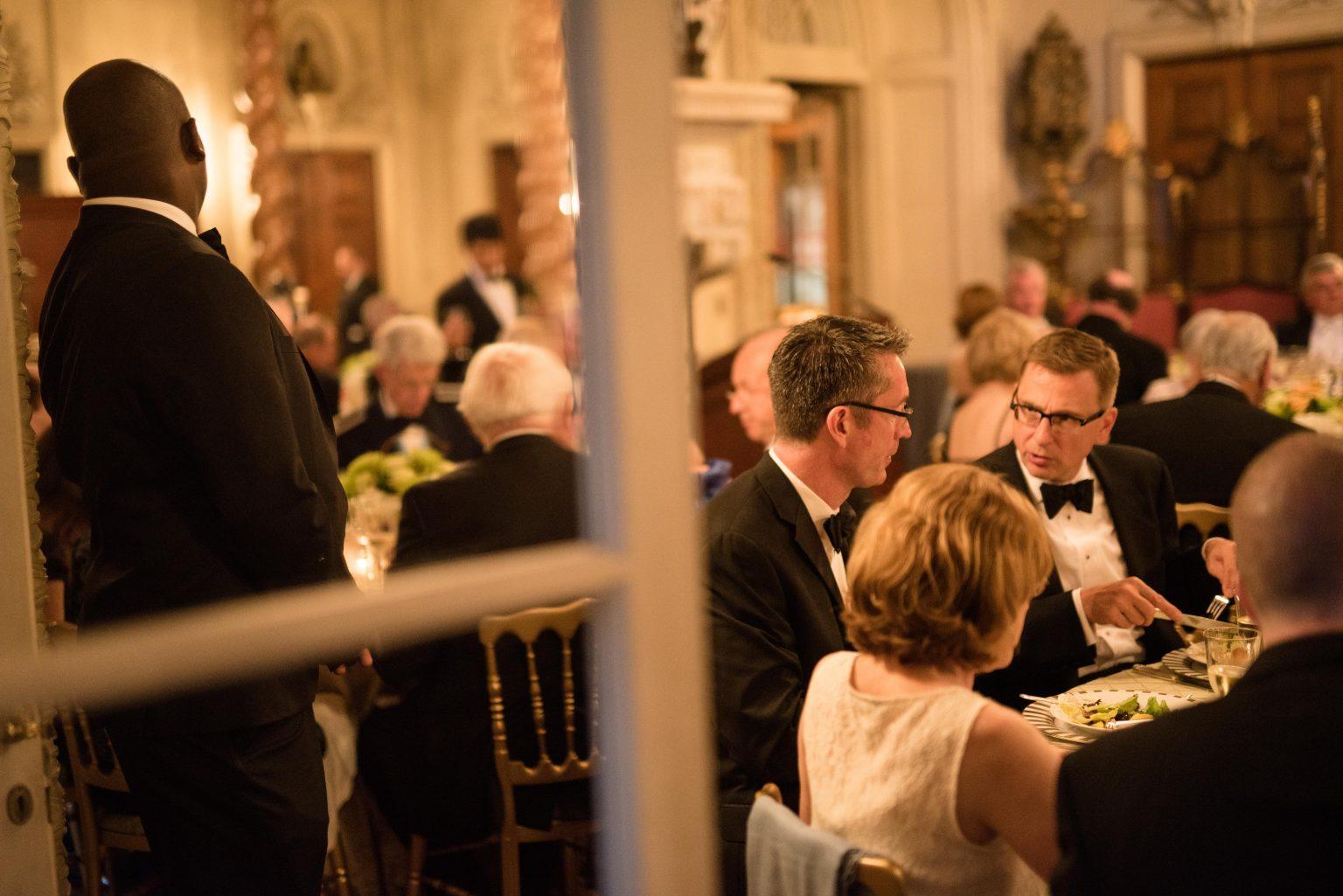Black tie dinner in the Ballroom. Photo by Elliott O'Donovan.