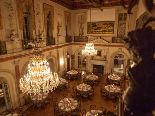 <h2>Dinner setup in the Ballroom</h2>Photo by Philip Gerlach.