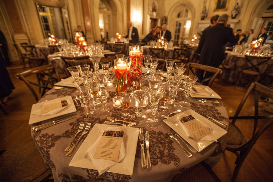 Dinner table in the Ballroom. Photo by Philip Gerlach.