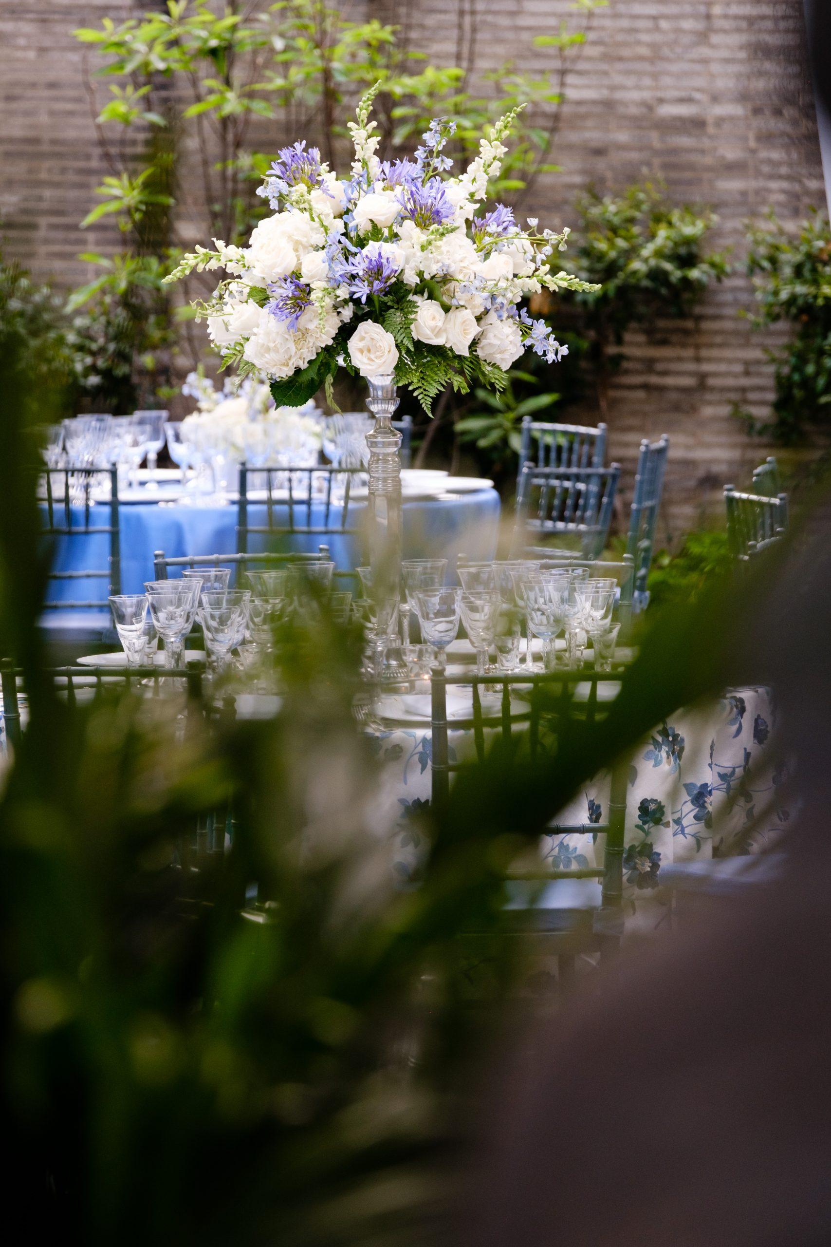 Garden dinner setting. Photo by Egomedia.