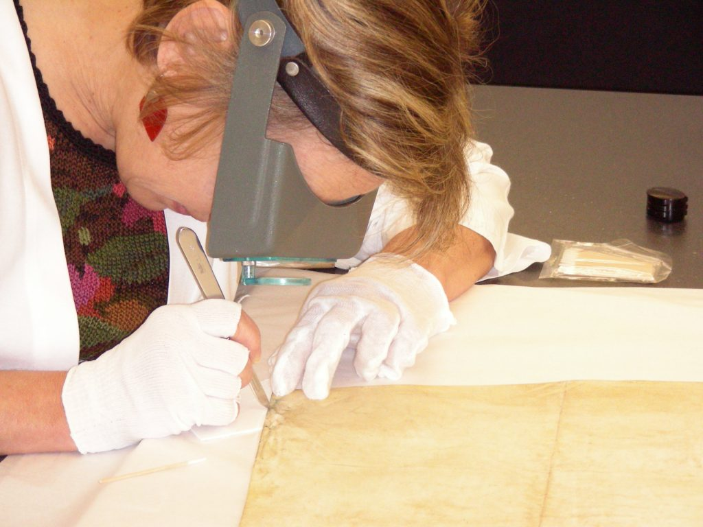 Society Institution, conservator Christine Smith at work, Oct 2007