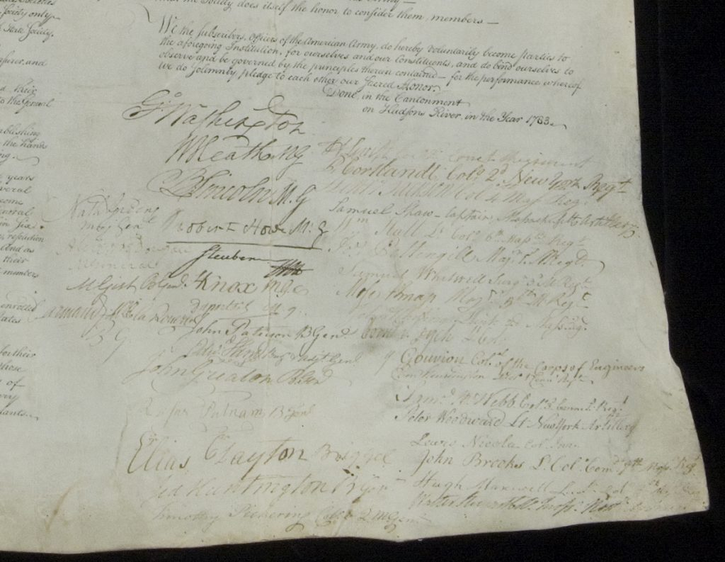 Society Institution, detail signatures after 2007 conservation