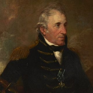 Oil paint portrait of Thomas Pinckney wearing a military uniform and Society of the Cincinnati insignia