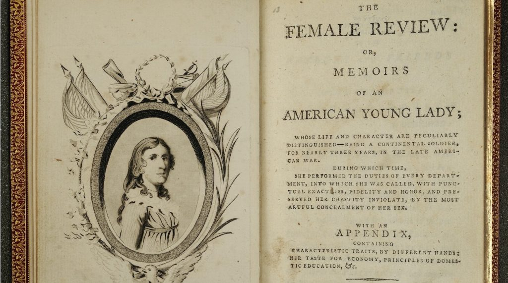 "Title page of the Deborah Sampson biography, ""The Female Review."""