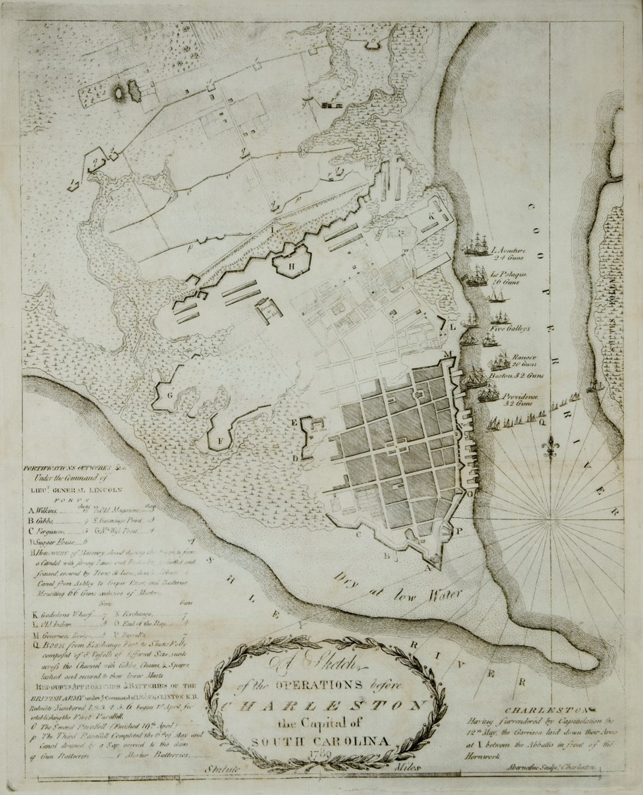Sketch of the Operations before Charleston the Capital of South Carolina by Abernethie, 1780.
