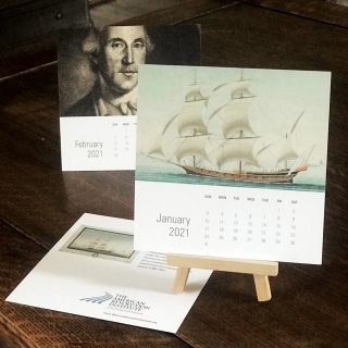 This calendar is offered exclusively in the American Revolution Institute Shop.