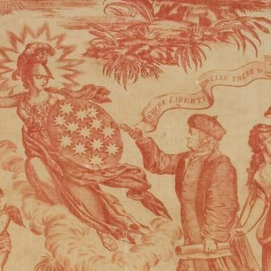 The symbols found on this printed textile reflects the ideals addressed in this lesson plan on the Revolutionary Republic.