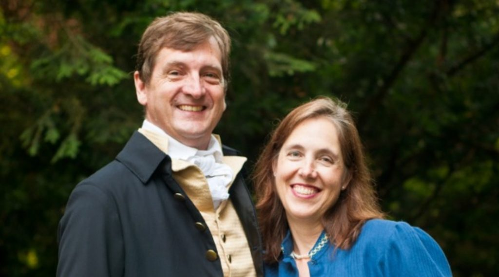 David and Ginger Hildebrand perform an Independence Day concert for the American Revolution Institute on July 2, 2020.