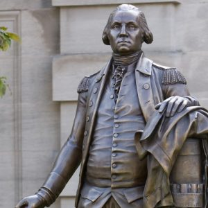 The symbolism of this statue of George Washington reflects the ideals addressed in this lesson plan on the Revolutionary Republic.