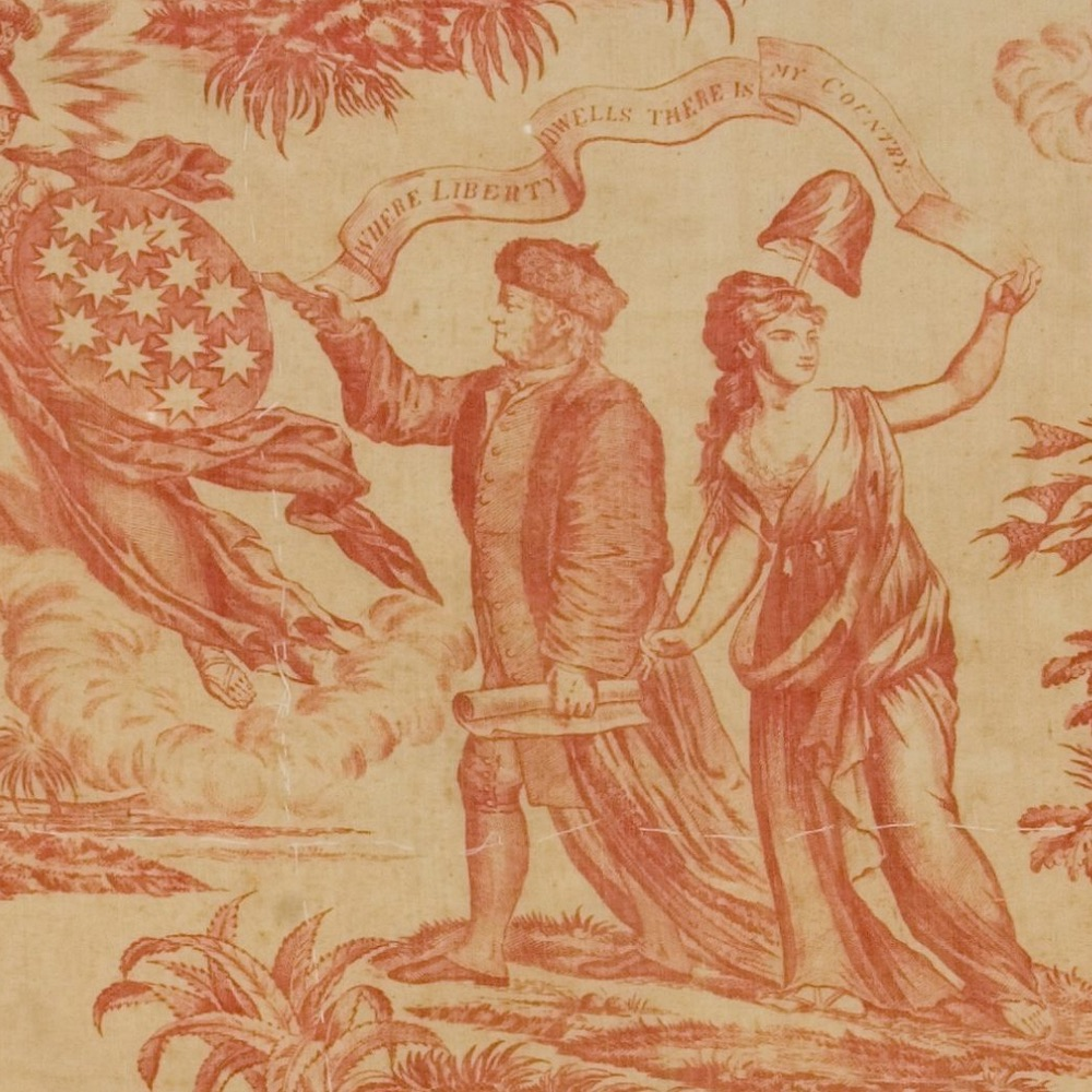 "American ideals after the Revolutionary War reflected in this ""Where Liberty Dwells"" textile, is the subject of this lesson."