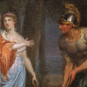 The classical figures depicted in this painting of Cincinnatus and his wife reflect the ideals addressed in this lesson plan on the Revolutionary Republic.