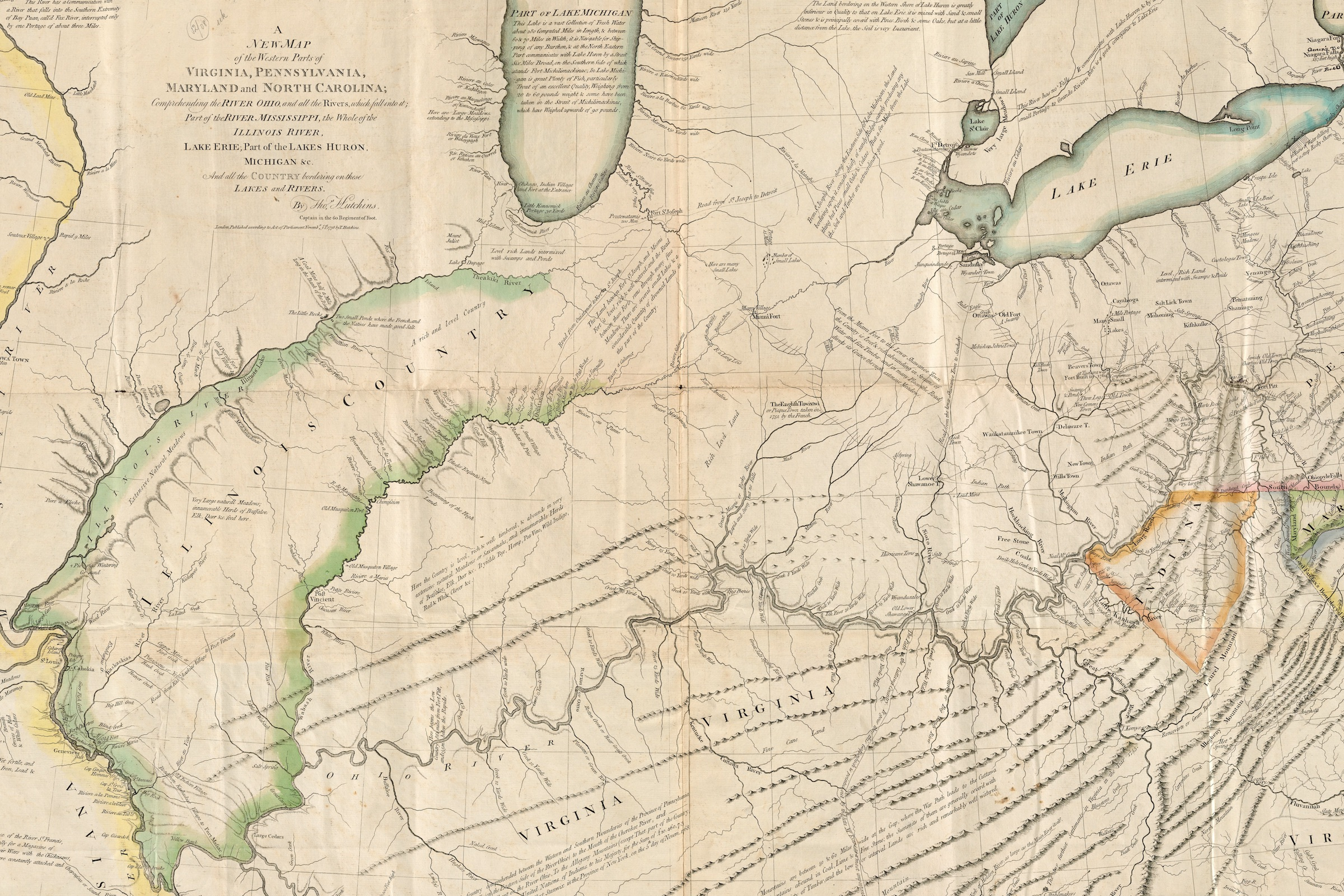 The map of the Ohio Valley and beyond is one of the great maps of the Revolutionary War.