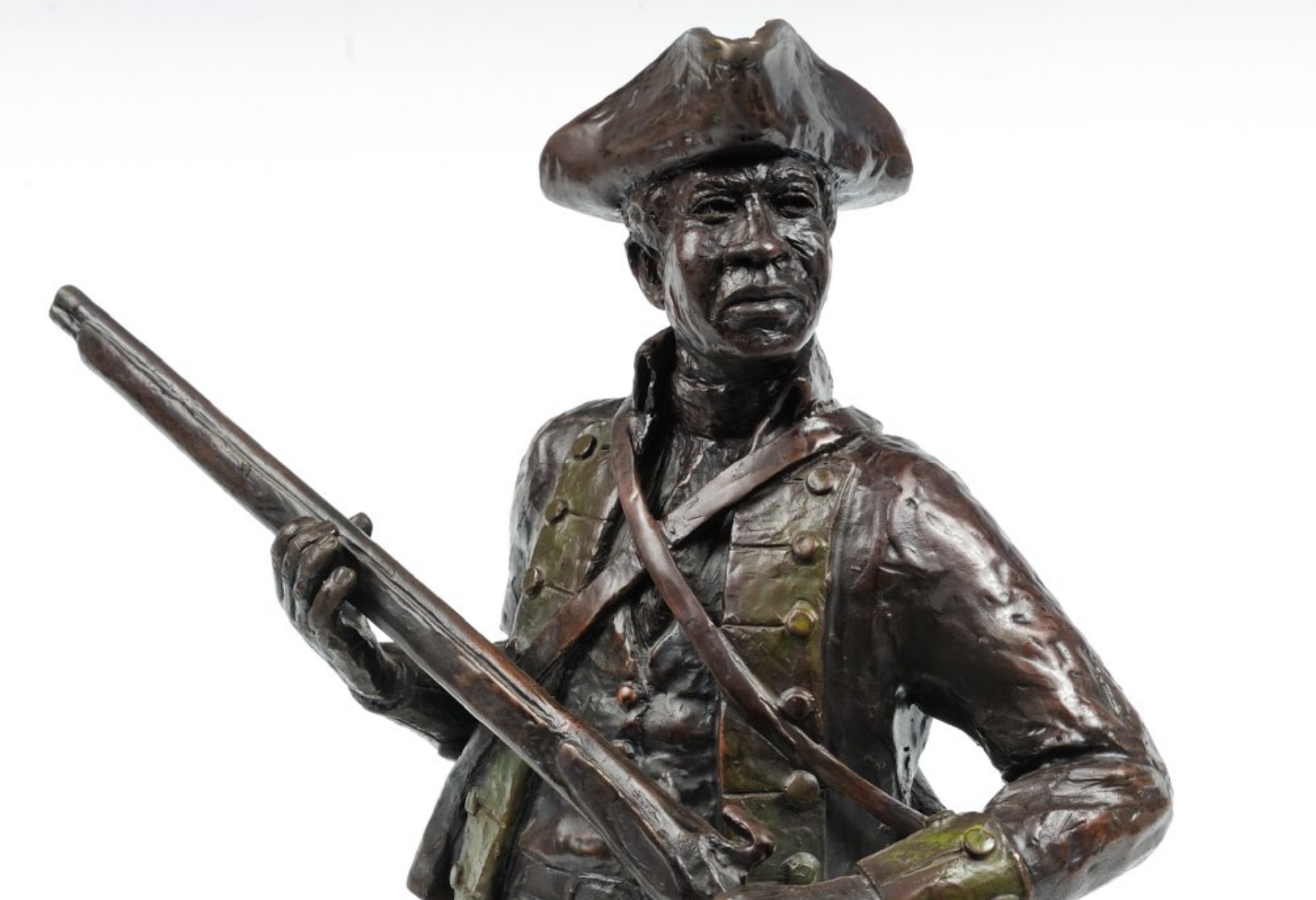 No portrait of Chatham Freeman is known, but this sculpture of a proposed figure for the Black Revolutionary War Patriots Memorial honors his service.