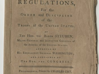 A volume of Baron von Steuben's Regulations for the Order and Discipline of the Troops for the Delaware militia