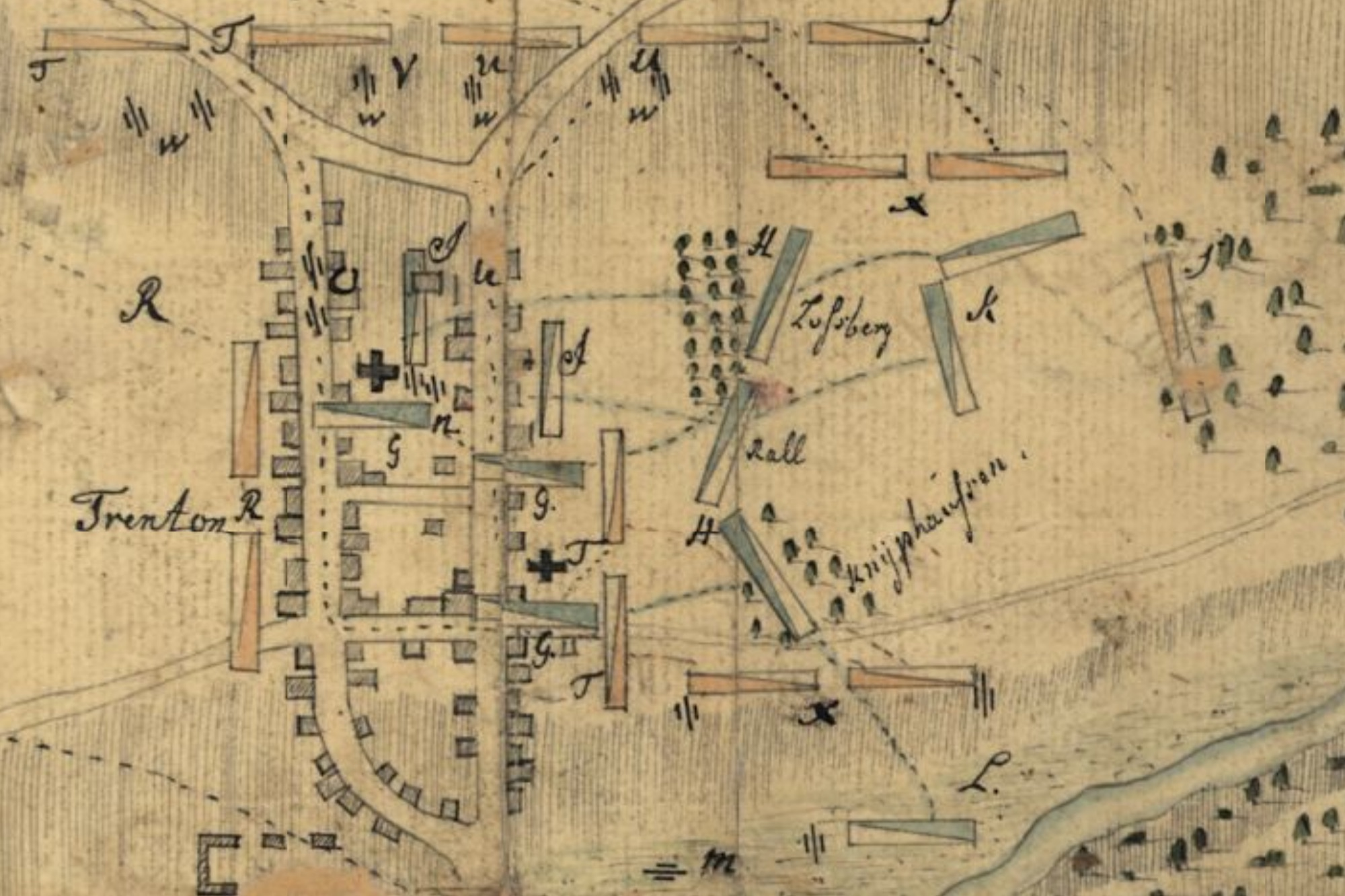 This map of the Battle of Trenton drawn immediately after the battle is one of the ten great maps of the Revolutionary War.