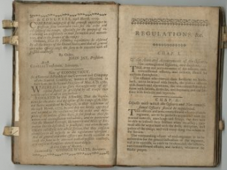 The 1782 edition of Baron von Steuben's Regulations for the Order and Discipline of the Troops by Connecticut
