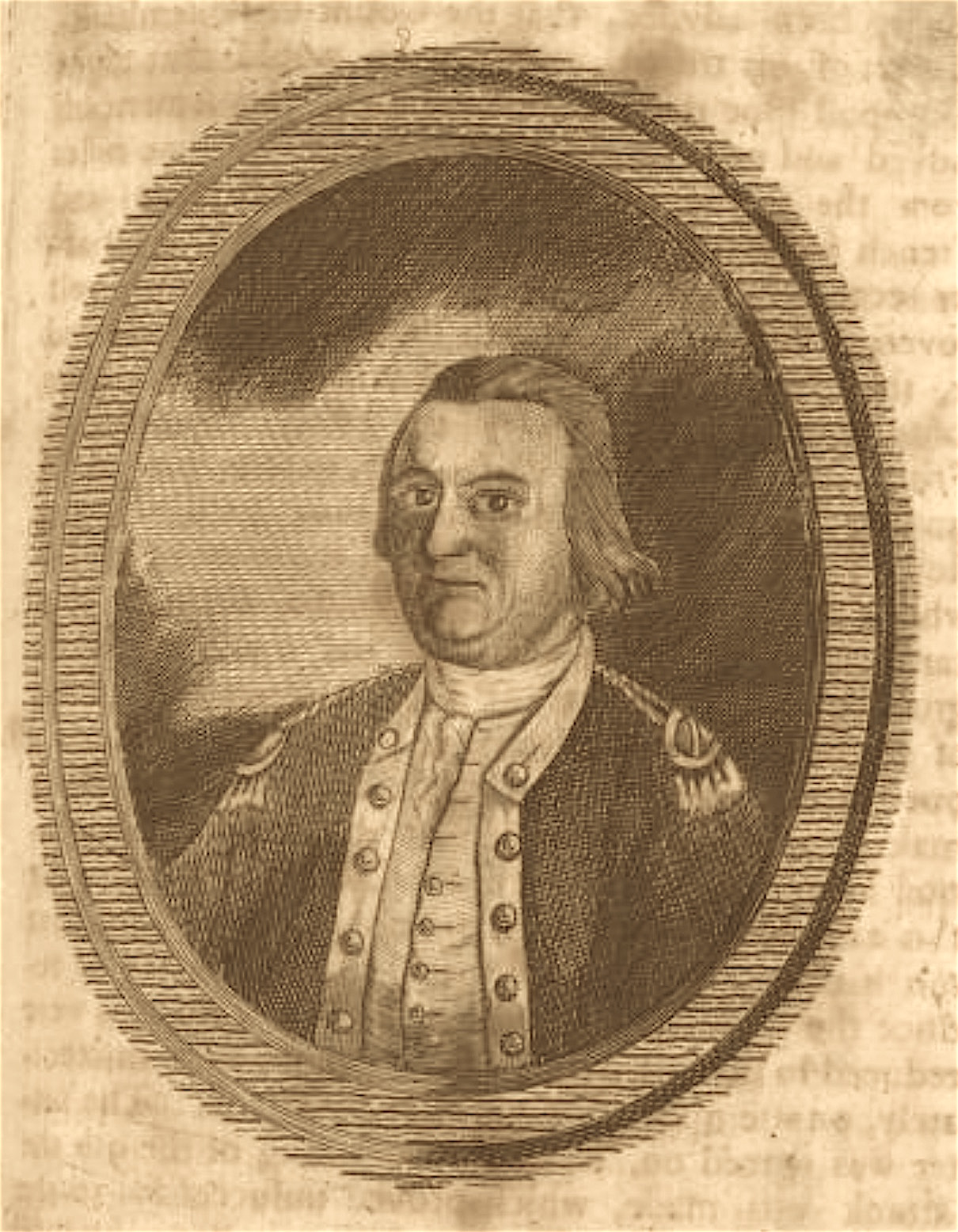 Benjamin Lincoln went home to Hingham a few months after this engraved portrait was published in 1782