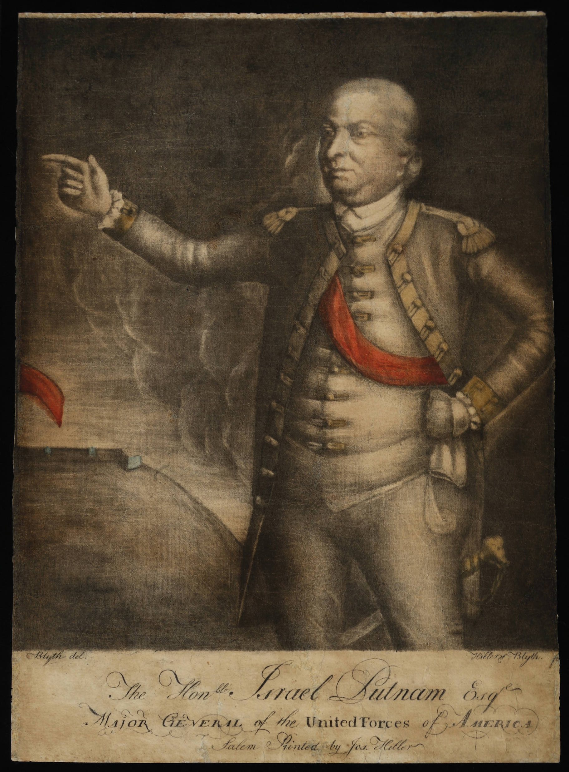 This engraving of Israel Putnam is one of ten great Revolutionary War prints.