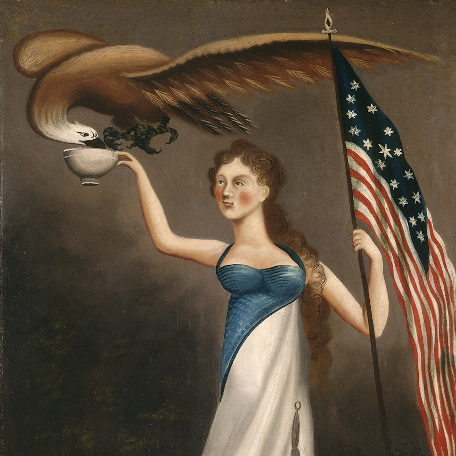 This nineteenth century painting of Liberty symbolizes one of the major achievements of the American Revolution.