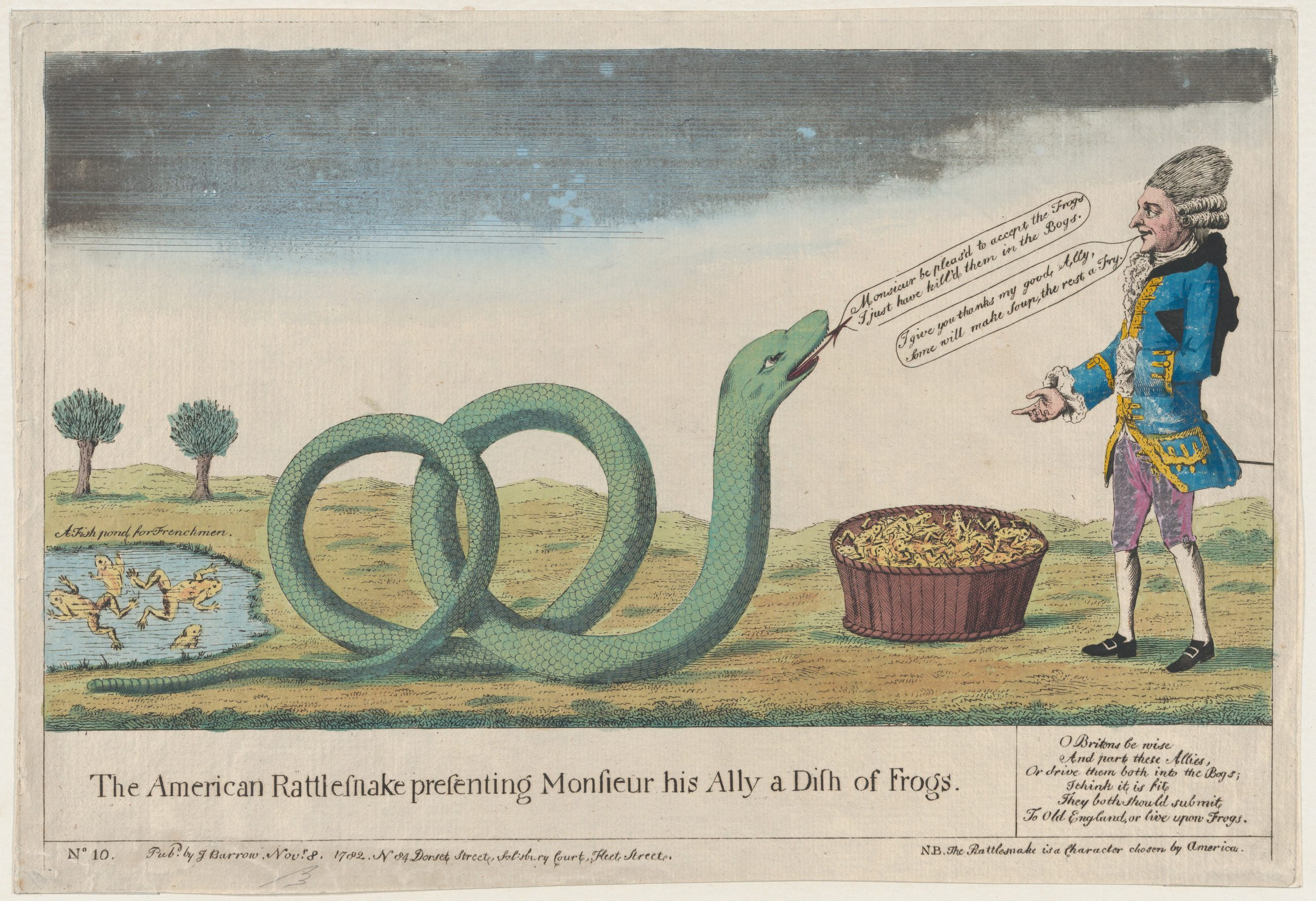 This printed cartoon is one of ten great Revolutionary War prints.