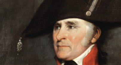 This detail from John Trumbull's portrait of Bryan Rossiter promotes the American Revolution Institute blog.