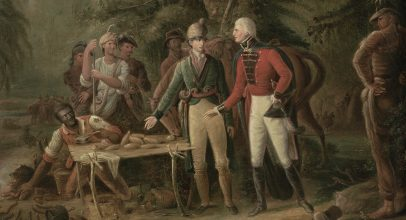 Marion Inviting a British Officer is one of the Treasures of the American Revolution a new series from the American Revolution Institute.